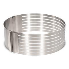 Nastavljiv obroč za rezanje biskvita 24-30 cm