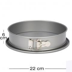 Nepropusten obroč pekač z odstranljivim dnom Ø22 cm