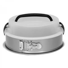 Okrogel pekač z nosilnim pokrovom za varen prevoz 24 cm