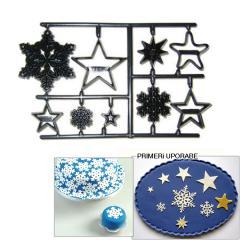 Patchwork modelček Snežinke in Zvezde