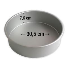 PME okrogel pekač za torte 30,5 cm, višina 7,6 cm