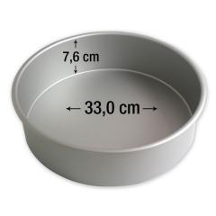 PME okrogel pekač za torte 33,0 cm, višina 7,6 cm