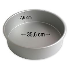 PME okrogel pekač za torte 35,6 cm, višina 7,6 cm