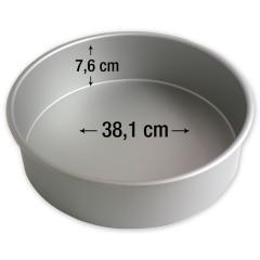 PME okrogel pekač za torte 38,1 cm, višina 7,6 cm