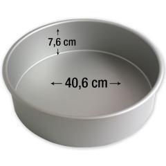 PME okrogel pekač za torte 40,6 cm, višina 7,6 cm