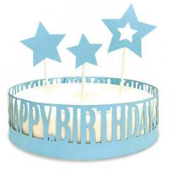 Obroba za torto in 3 topperji, Happy Birthday