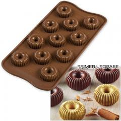 Silikomart silikonski pekač ČOKOLADNE KRONE