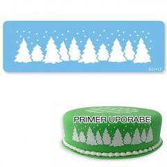 Šablona za dekoracijo božična drevesca