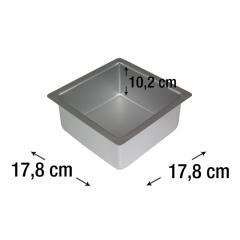PME kvadraten pekač za biskvit 17,8 x 17,8 cm, višina 10,2 cm