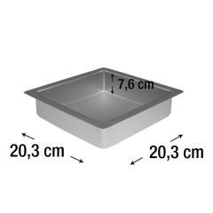PME kvadraten pekač za biskvit 20,3 x 20,3 cm, višina 7,6 cm