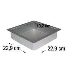 PME kvadraten pekač za biskvit 22,9 x 22,9 cm, višina 10,2 cm