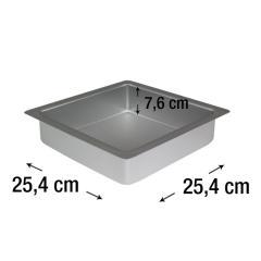 PME kvadraten pekač za biskvit 25,4 x 25,4 cm, višina 7,6 cm