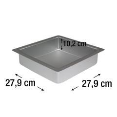 PME kvadraten pekač za biskvit 27,9 x 27,9 cm, višina 10,2 cm