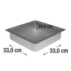 PME kvadraten pekač za biskvit 33 x 33 cm, višina 10,2 cm