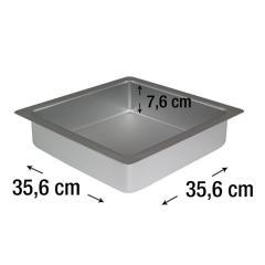 PME kvadraten pekač za biskvit 35,6 x 35,6 cm, višina 7,6 cm