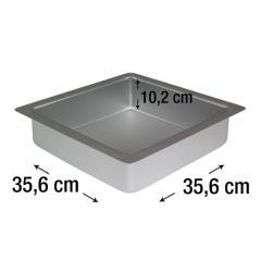 PME kvadraten pekač za biskvit 35,6 x 35,6 cm, višina 10,2 cm