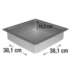 PME kvadraten pekač za biskvit 38,1 x 38,1 cm, višina 10,2 cm