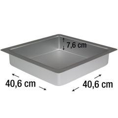 PME kvadraten pekač za biskvit 40,6 x 40,6 cm, višina 7,6 cm