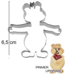 Modelček Medvedek, 6,5cm, rostfrei