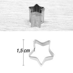 Mini modelček zvezdica 1,5 cm, rostfrei