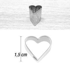 Mini modelček srček 1,5 cm, rostfrei