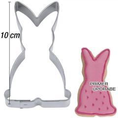 Modelček Sedeči zajček 10 cm, pločevina