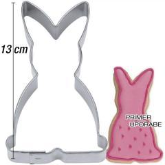 Modelček Sedeči zajček 13 cm, pločevina
