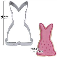 Modelček Sedeči zajček 8 cm, rostfrei