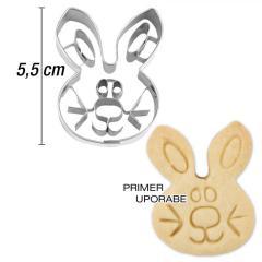 Modelček Zajčji obraz 5,5 cm, rostfrei