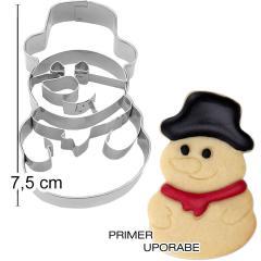 Modelček Snežak s klobukom 7,5cm, rostfrei