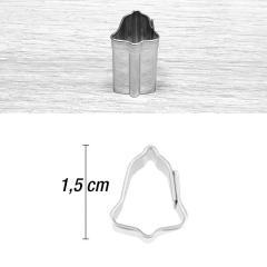 Mini modelček zvonček 1,5 cm, rostfrei