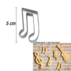 Modelček glasbena nota 5 cm, rostfrei