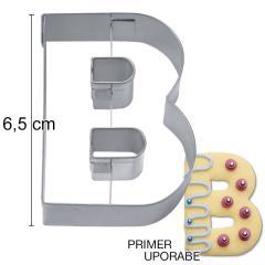 Modelček Črka 6,5cm, rostfrei, B