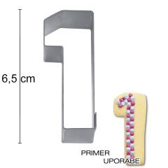 Modelček Številka 6,5cm, rostfrei, št.1