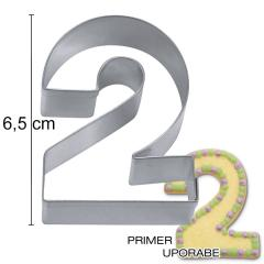 Modelček Številka 6,5cm, rostfrei, št.2