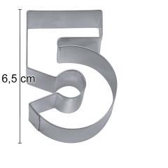 Modelček Številka 6,5cm, rostfrei, št.5
