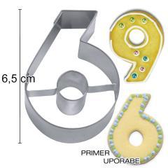 Modelček Številka 6,5cm, rostfrei, št.6 ali 9