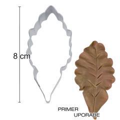 Modelček List 8cm, rostfrei