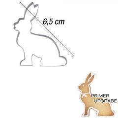Modelček Sedeči zajček 6,5 cm, rostfrei