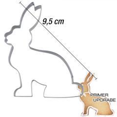 Modelček Sedeči zajček 9,5 cm, rostfrei