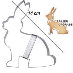 Modelček Sedeči zajček 14 cm, rostfrei