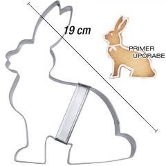 Modelček Sedeči zajček 19 cm, rostfrei