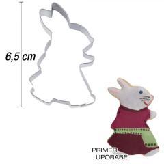 Modelček Hodeča zajkla 6,5 cm, rostfrei