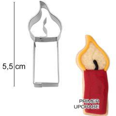 Modelček Sveča 5,5 cm, rostfrei