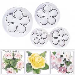Modelčki za Vrtnice ali Rožice, 4 delni na vzvod