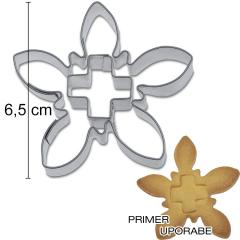 Modelček PLANIKA s križem 6,5cm, pločevina