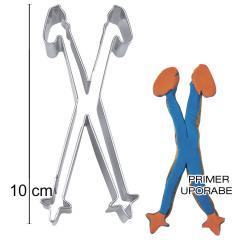 Modelček Smučarske palice 10cm, rostfrei