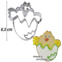 Modelček Piščanček v lupini 6,5 cm, rostfrei