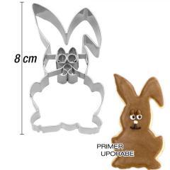 Modelček Zajček v počepu 8 cm, rostfrei