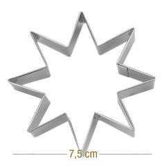 Modelček 8 kraka zvezdica 7,5 cm, rostfrei